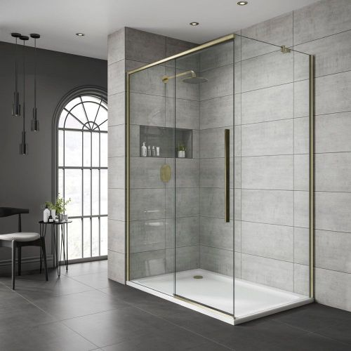 Jaquar Gold Frameless Sliding Shower Door