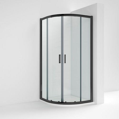 Nuie Pacific Quadrant Black Profile Shower Enclosure