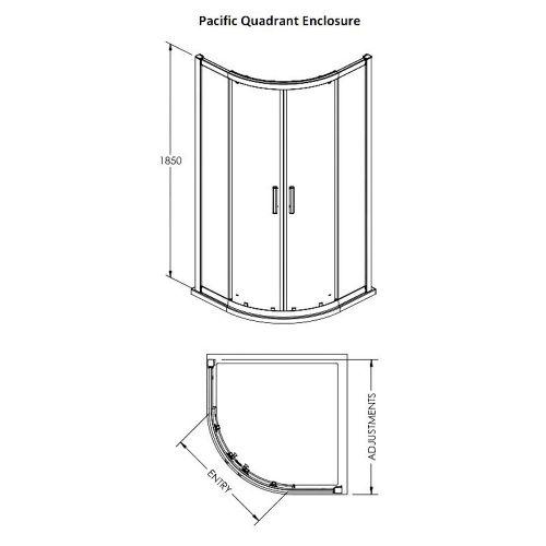 Pacific corner quadrant technical drawing