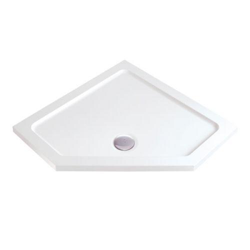 MX matching slim pentangle shower tray