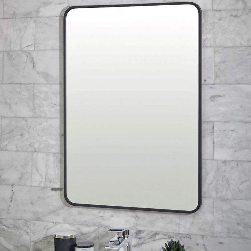 Scudo Mono Black Rectangle Mirror