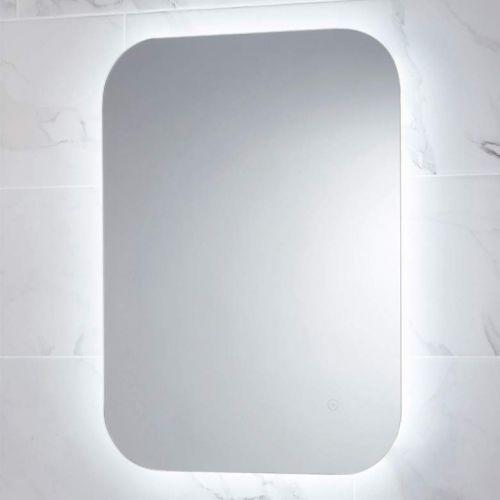 Aura mirror in cool white