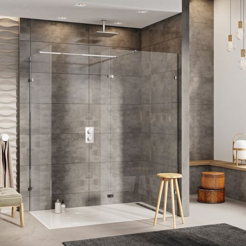 Scudo S10 3 Panel walk in shower installation