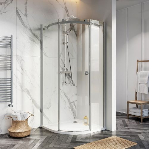 Scudo/Shield S8 Frameless 900mm Quadrant Shower