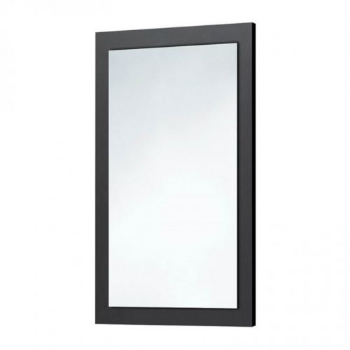Scudo Wood Frame Mirror In Graphite Grey
