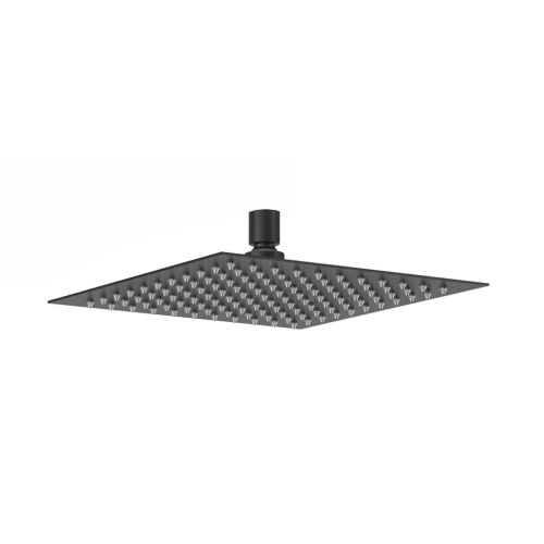Aquaglass Velar Ultra Thin Black Square Shower Head