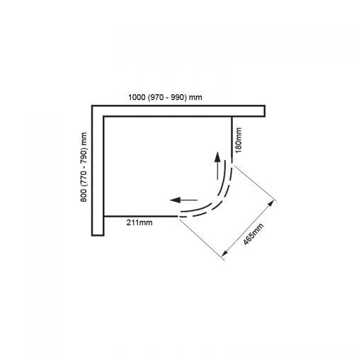 Vivid boost 1000x800 offset quadrant technical drawing