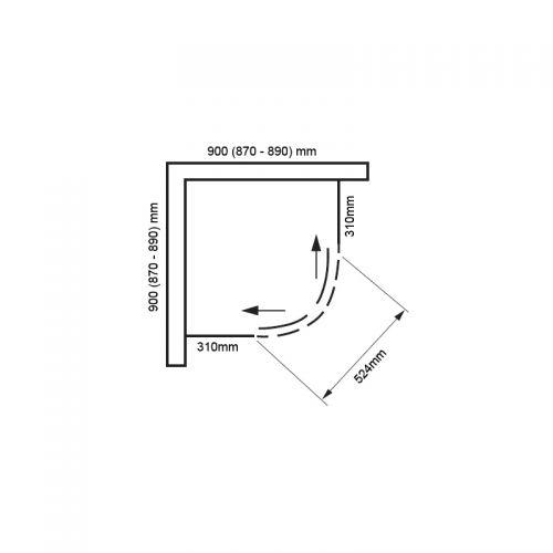 Vivid boost 900 quadrant technical drawing