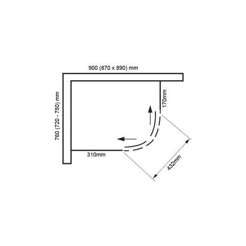 Vivid boost 900x760 offset quadrant technical drawing