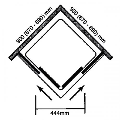 900x900 Vivid boost corner enclosure