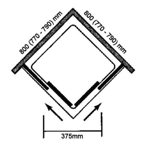 800x800 Vivid boost corner enclosure