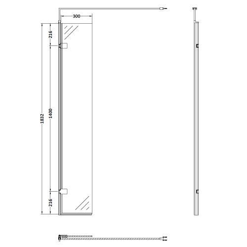 300mm hinged return panel technical