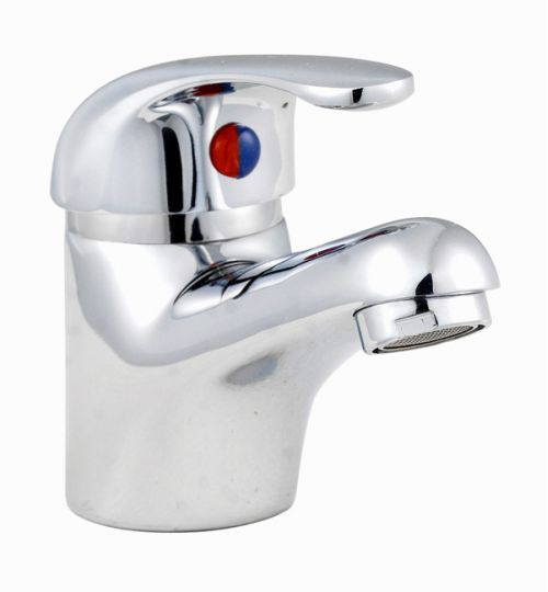 Curved Euro Mono Basin Mixer with Pop-up Waste