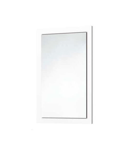 Scudo Wood Frame Mirror In Gloss White