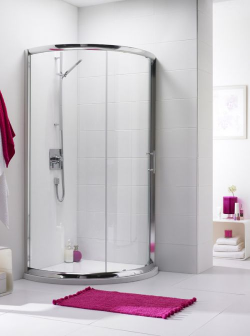 Pacific Single Entry Quadrant Shower Enclosure and Tray