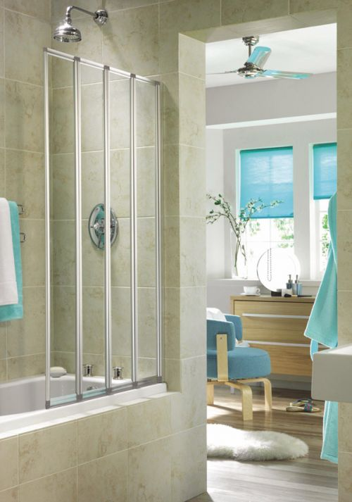 Aqualux Aquarius 4 Fold Bath Screen