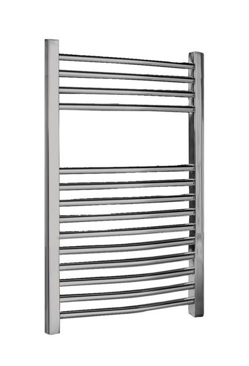500 x 700mm Chrome Curved Ladder Heated Towel Rail