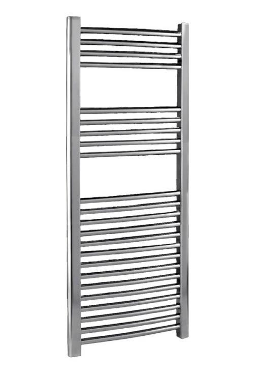 500 x 1100mm Chrome Curved Ladder Heated Towel Rail