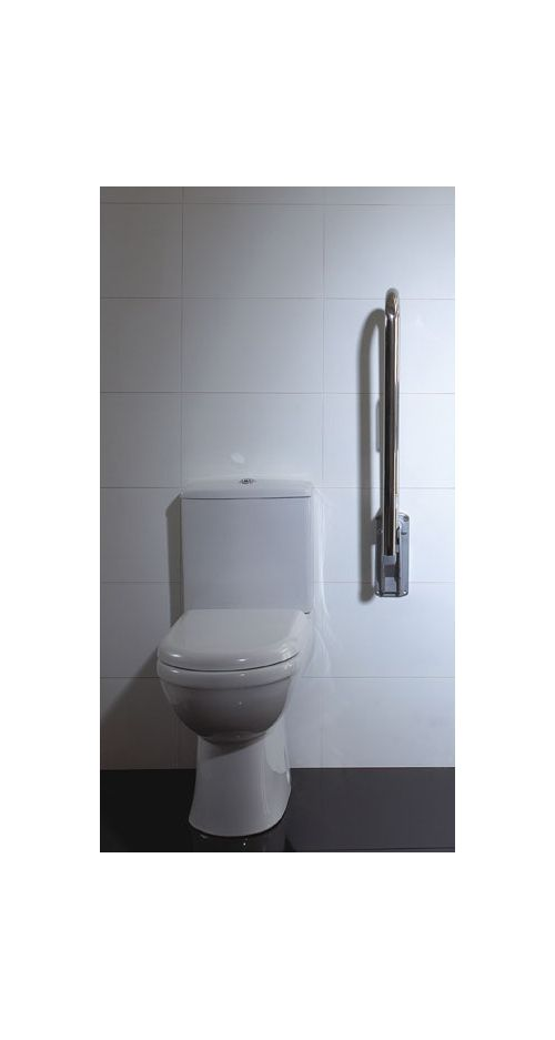 Folding Support Arm with Toilet Roll Holder Lifestyle Image